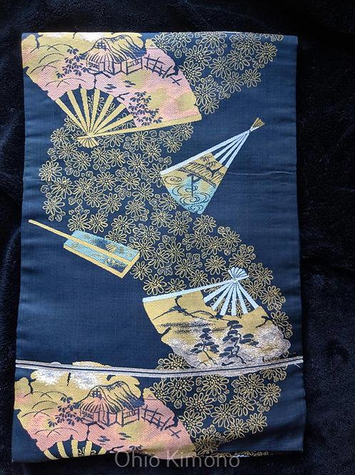 Black & gold Nagoya Obi