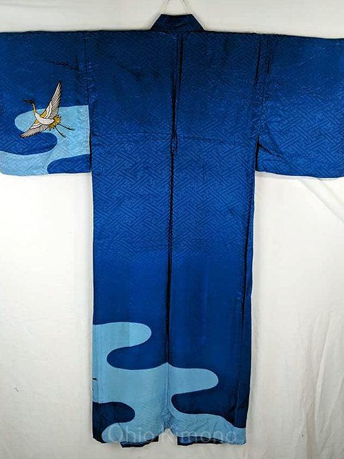 blue men's kimono