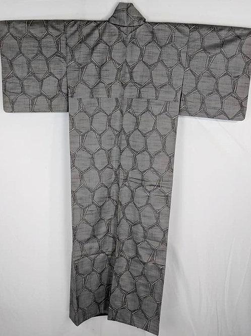 grey japanese kimono