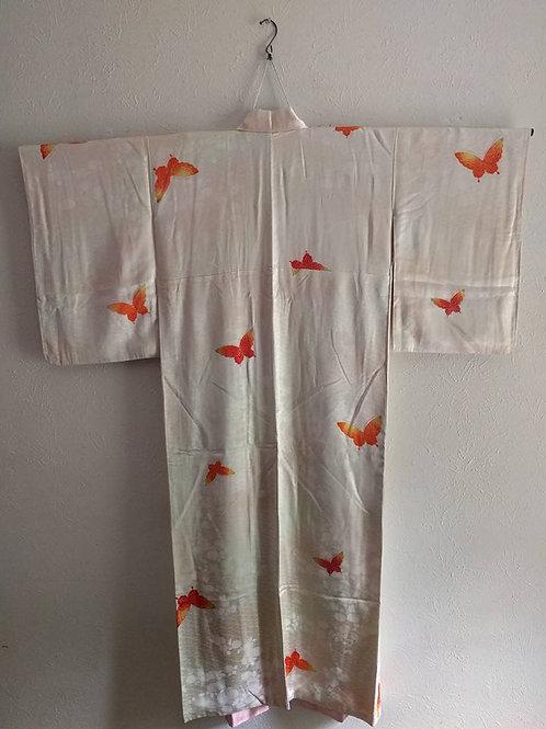 White Butterfly Japanese Kimono