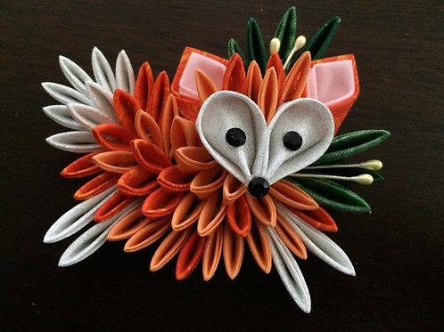 Orange Fox Kanzashi