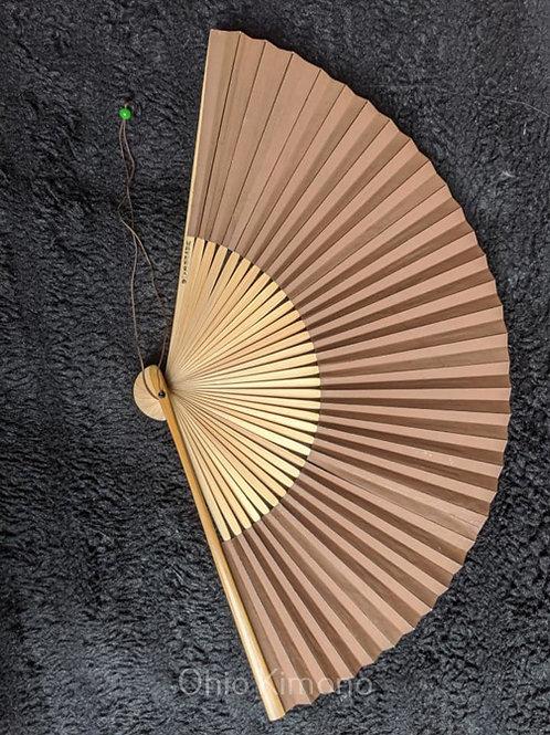 vintage brown folding fan