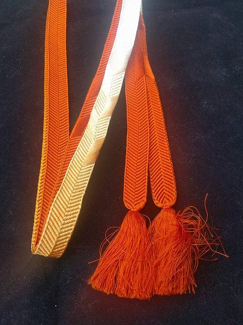 Orange and White Obijime