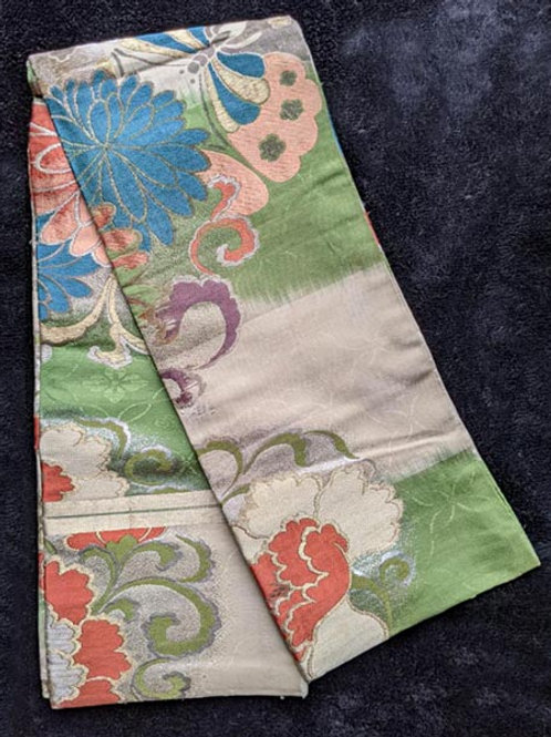 antique silk obi for japanese kimono