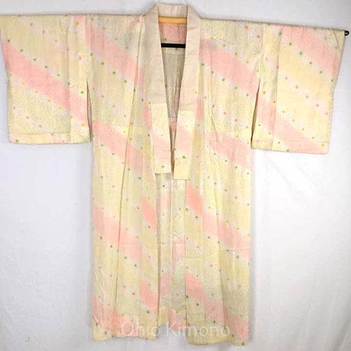 yellow pink vintage juban for kimono