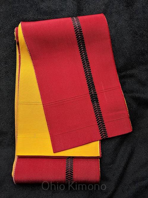 Red & Yellow Hanhaba Obi