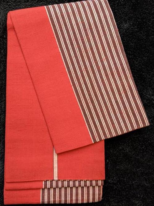 red hanhaba obi for kimono