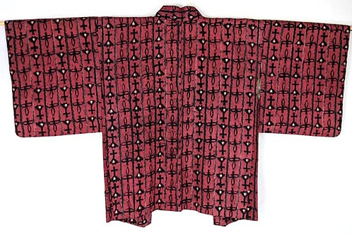 black and pink haori