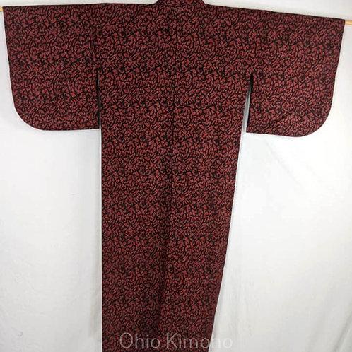 red black japanese kimono for women
