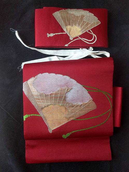 Red Obi For Kimono
