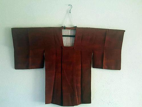 Brick Red Michiyuki Coat For Japanese Kimono