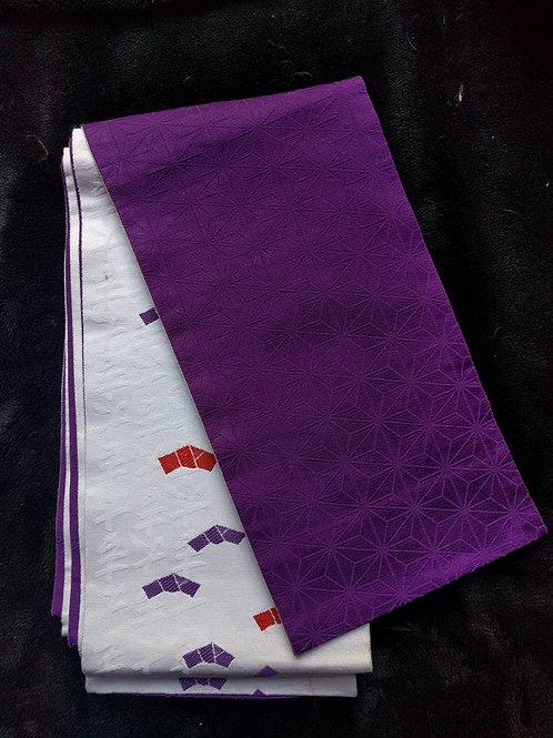 Purple & White Hanhaba Obi