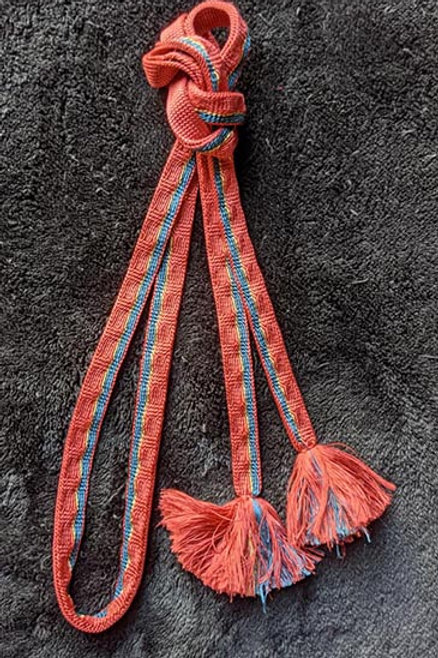 flat braid obijime for kimono pink and blue