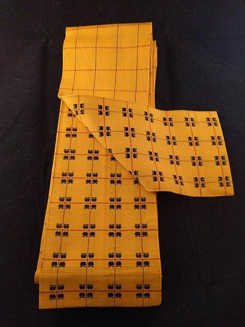 Yellow & Black Hanhaba Obi