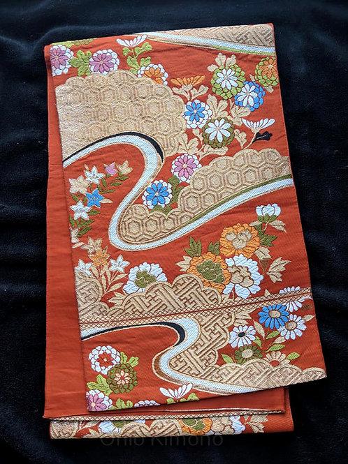 Orange & Gold Fukuro Obi
