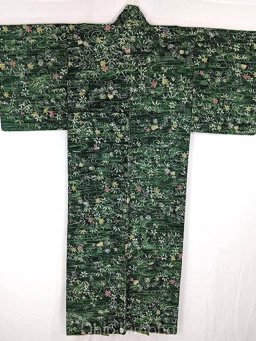 green kimono from japan