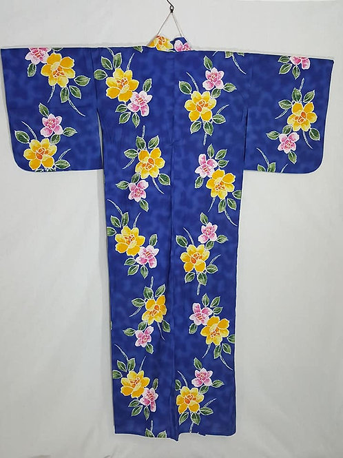 blue womens yukata