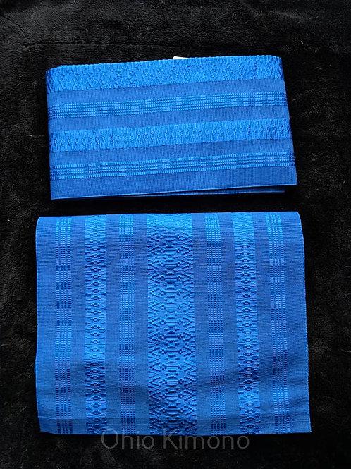 blue tsuke obi
