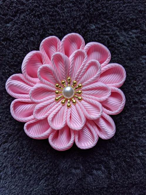 Pink & Gold Kanzashi
