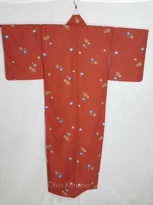 red sakura kimono