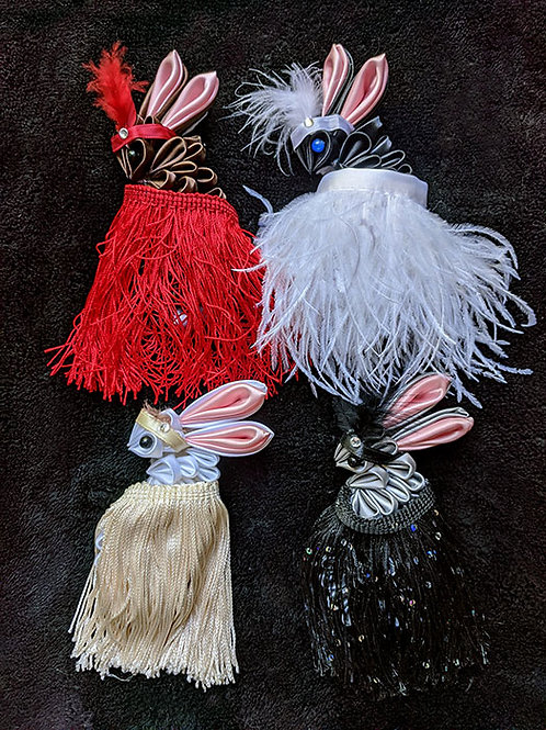 Multi-Color Rabbit Kanzashi