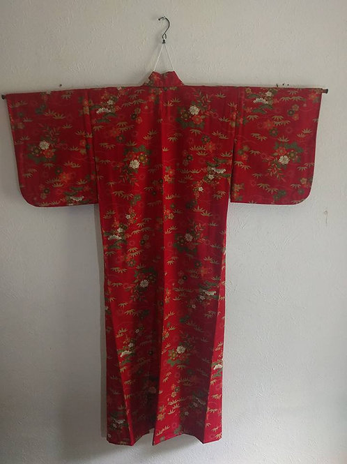 Red Japanese Kimono For Sale