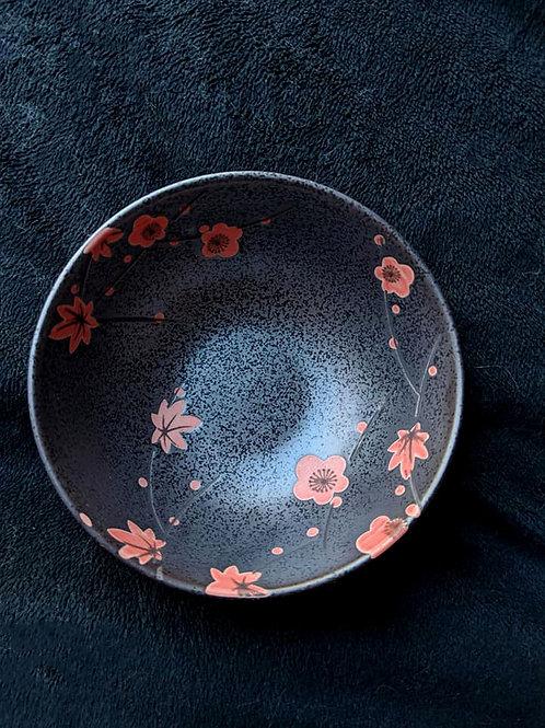 Black & Peach Tea Bowl
