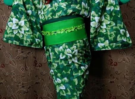 Poison Ivy - Halloween Kimono Kitsuke