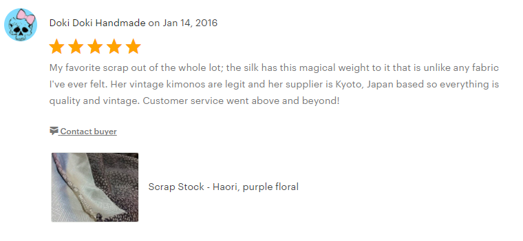 Ohio Kimono Customer Review