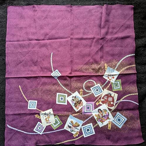 purple eco gift wrap