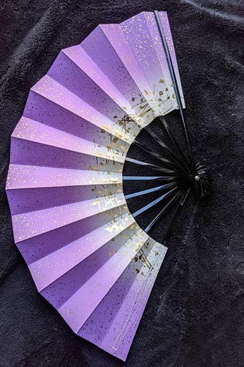 purple and white folding fan from japan