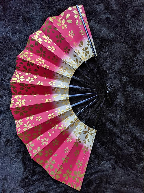 Pink & Gold Japanese Fan