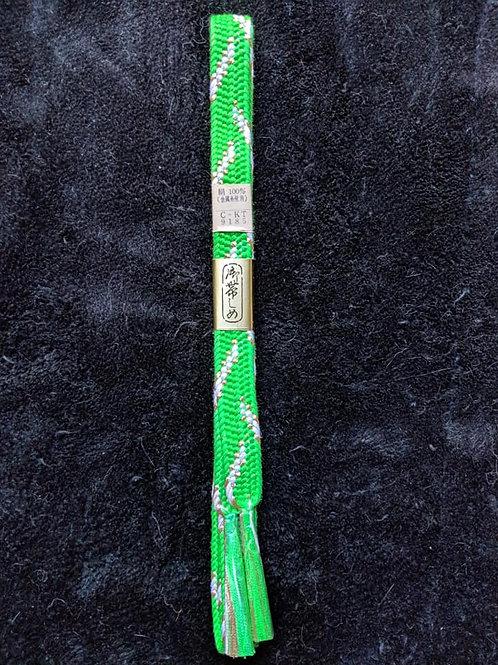 Bright Green & White Obijime