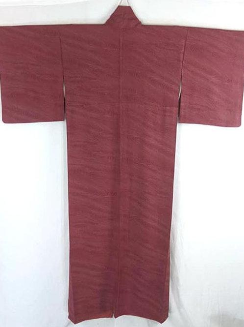 rose pink vintage Japanese kimono