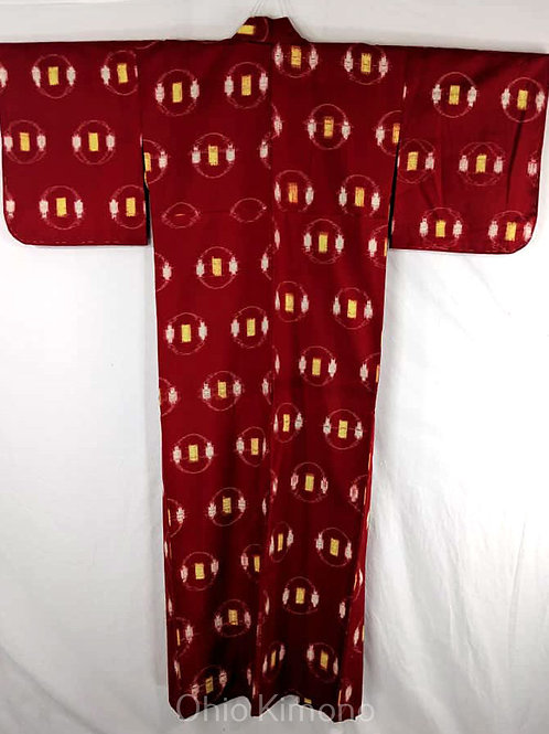 Red & Yellow Japanese Kimono