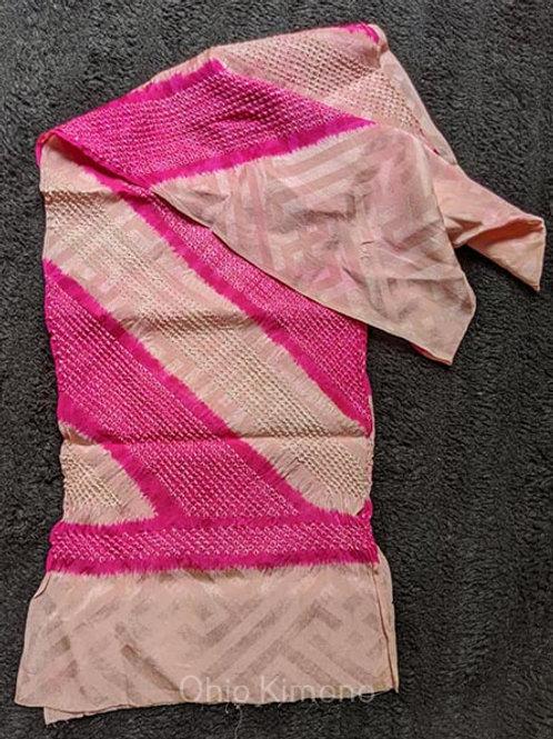 shibori obiage silk pink