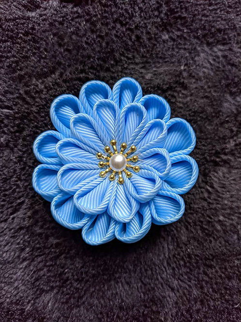 Blue & Gold Kanzashi