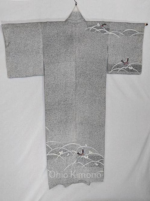 grey formal kimono