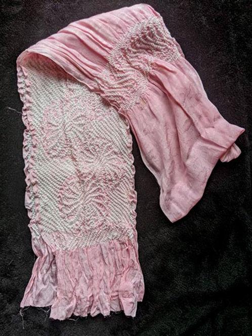 pink silk obiage for kimono