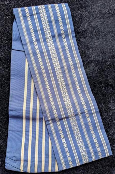 blue hanhaba obi for kimono