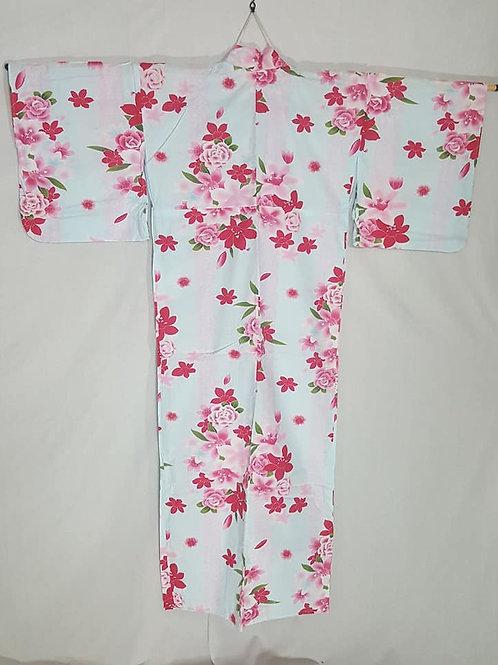 blue and pink yukata