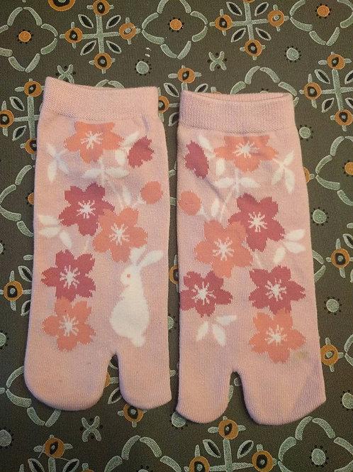 Pink Bunny With Sakura Tabi