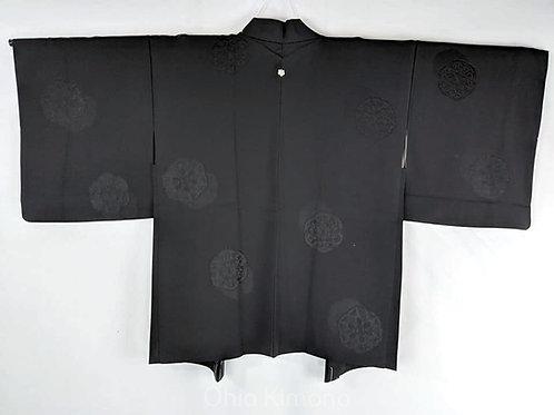 black silk haori