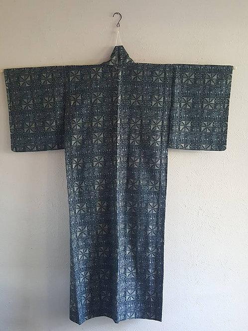 Blue Green Japanese Kimono