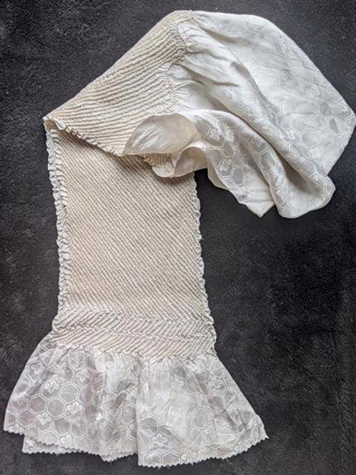 white obiage for japanese kimono