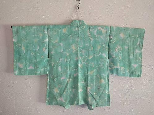Teal Haori For Japanese Kimono
