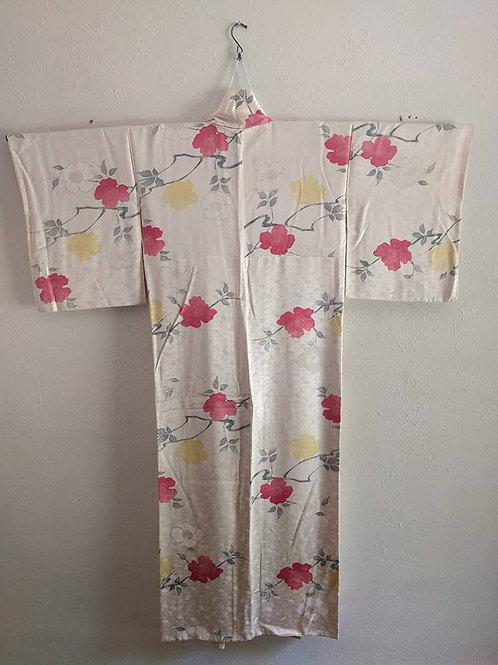 White Silk Kimono