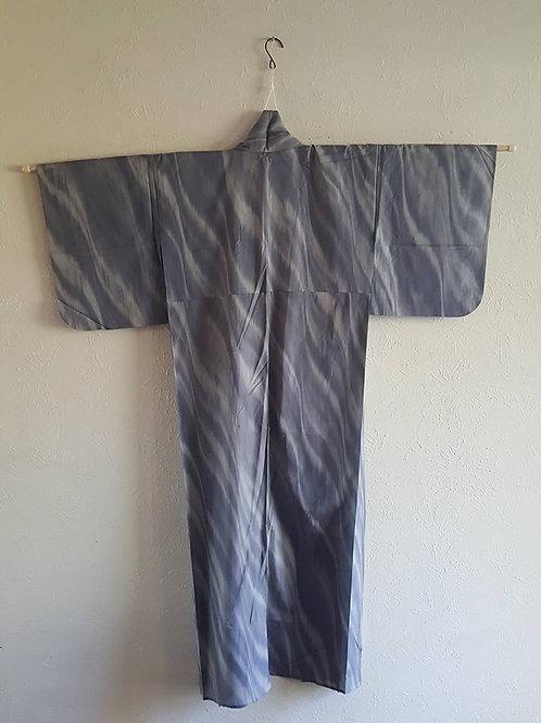 Grey & White Japanese Kimono