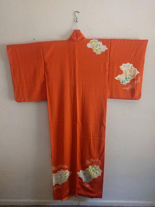 Orange Japanese Kimono