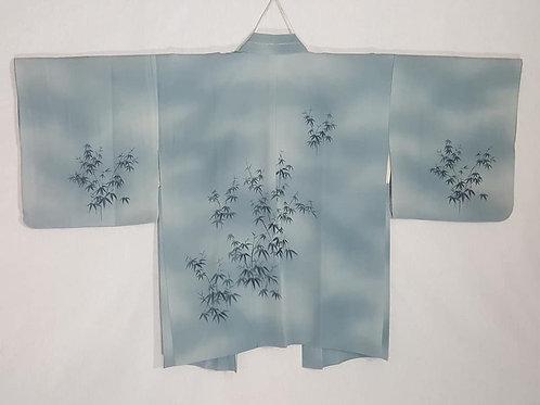 blue silk haori